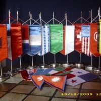 INSOLVENZWARE 100 Stck. Tischflaggen Länderwimpel