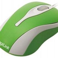 24x LogiLink Mini USB optische Maus Grün-Weiss