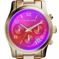 Michael Kors MK5939 Damenuhr Chronograph Edelstahl pink Goldfarben