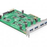 Delock USB3.0 4 x extern USB 3.0-A (Quad Channel) PCI-E x4