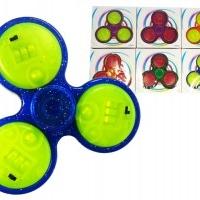 24 Sck.Fingerkreisel Fidget Spinner mit 3 LEDs & Schalter