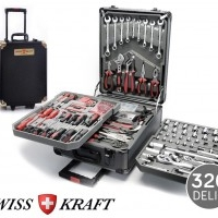 326-teiliger Swiss Kraft Tool Trolley - Vier Einlegeböden OVP