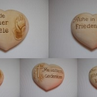 Keramik Grabschmucksteine
