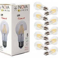 10er Pack LED Filament 8 Watt E27 2700K 860lm nicht dimmbar