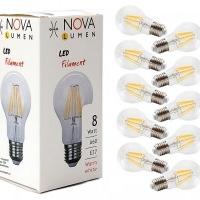 10er Pack LED Filament 8 Watt E27 2700K 860lm nicht dimmbar
