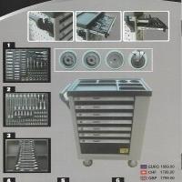 Werkzeugwagen inklusive Werkzeug 376 Teil-Schaumstoffeinlagen OVP