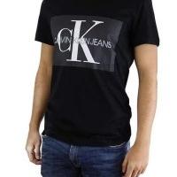 Calvin Klein Herren T-Shirt Rundhalsausschnitt Schwarz | Restposten und Grosshandel