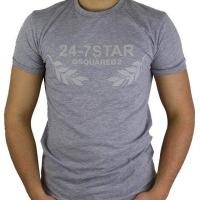 Dsquared2 Herren T-Shirt Grau | Restposten und Grosshandel