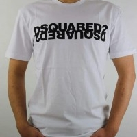 Dsquared2 Herren T-Shirt M2 Weiß Black | Restposten und Grosshandel