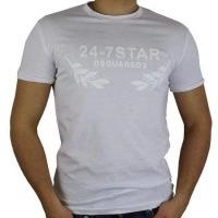 Dsquared2 Herren T-Shirt Weiß | Restposten und Grosshandel