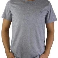 Fred Perry Herren T-Shirt Rundhalsausschnitt Grau | Restposten und Grosshandel
