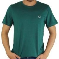 Fred Perry Herren T-Shirt Rundhalsausschnitt Grün | Restposten und Grosshandel