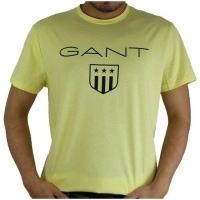 Gant Herren T-Shirt Wappen Gelb | Restposten und Grosshandel