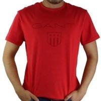 Gant Herren T-Shirt Wappen Rot | Restposten und Grosshandel