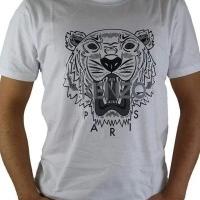 Kenzo Herren T-Shirt Tiger Weiß | Restposten und Grosshandel