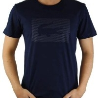 Lacoste Herren T-Shirt Rundhalsausschnitt Crocodile Brand Navy | Restposten und Grosshandel