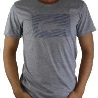 Lacoste Herren T-Shirt Rundhalsausschnitt Crocodile Brand Grau | Restposten und Grosshandel