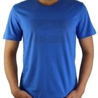 Lacoste Herren T-Shirt Rundhalsausschnitt Crocodile Brand Saxblau | Restposten und Grosshandel