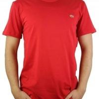 Lacoste Herren T-Shirt Rundhalsausschnitt Rot | Restposten und Grosshandel