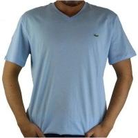 Lacoste Herren T-Shirt V-Ausschnitt Hellblau | Restposten und Grosshandel