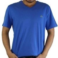 Lacoste Herren T-Shirt V-Ausschnitt Saxblau | Restposten und Grosshandel