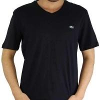 Lacoste Herren T-Shirt V-Ausschnitt Schwarz | Restposten und Grosshandel