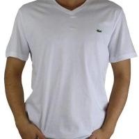 Lacoste Herren T-Shirt V-Ausschnitt Weiß | Restposten und Grosshandel