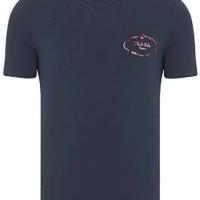 Prada Herren T-Shirt Rundhalsausschnitt Navy | Restposten und Grosshandel