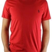 Ralph Lauren Herren T-Shirt Crew Neck  Rot | Restposten und Grosshandel