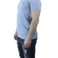 Ralph Lauren Herren T-Shirt Rundhalsausschnitt Hellgrau Navy | Restposten und Grosshandel