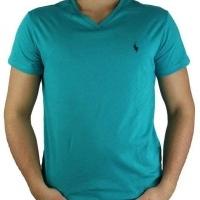 Ralph Lauren Herren T-Shirt V-Ausschnitt Grün | Restposten und Grosshandel