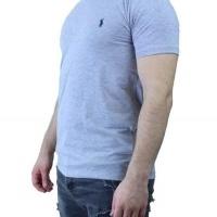 Ralph Lauren Herren T-Shirt V-Ausschnitt Hellgrau Navy | Restposten und Grosshandel