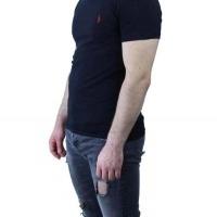 Ralph Lauren Herren T-Shirt V-Ausschnitt Schwarz Red | Restposten und Grosshandel