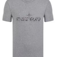 Stone Island Herren T-Shirt Crew Neck  Big Brand Gray | Restposten und Grosshandel