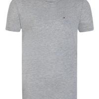 Tommy Hilfiger Herren T-Shirt Rundhalsausschnitt Grau | Restposten und Grosshandel