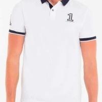 Hackett London Herren Polo-Shirts Custom Fit Weiß Navy   Restposten und Grosshandel