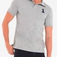 Hackett London Herren Polo-Shirts Slim Fit Grau   Restposten und Grosshandel