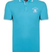 Hackett London Herren Polo-Shirts Slim Fit Türkis | Restposten und Grosshandel