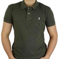 Ralph Lauren Herren Polo-Shirts Custom Fit Small Pony Khaki | Restposten und Grosshandel