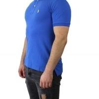 Ralph Lauren Herren Polo-Shirts Slim Fit Small Pony Saxblau Yellow | Restposten und Grosshandel